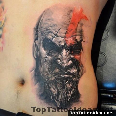 Kratos God Of War Tattoo Top Tattoo Ideas
