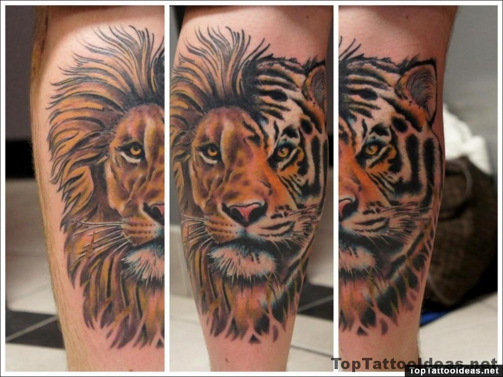 tiger origami tattoo