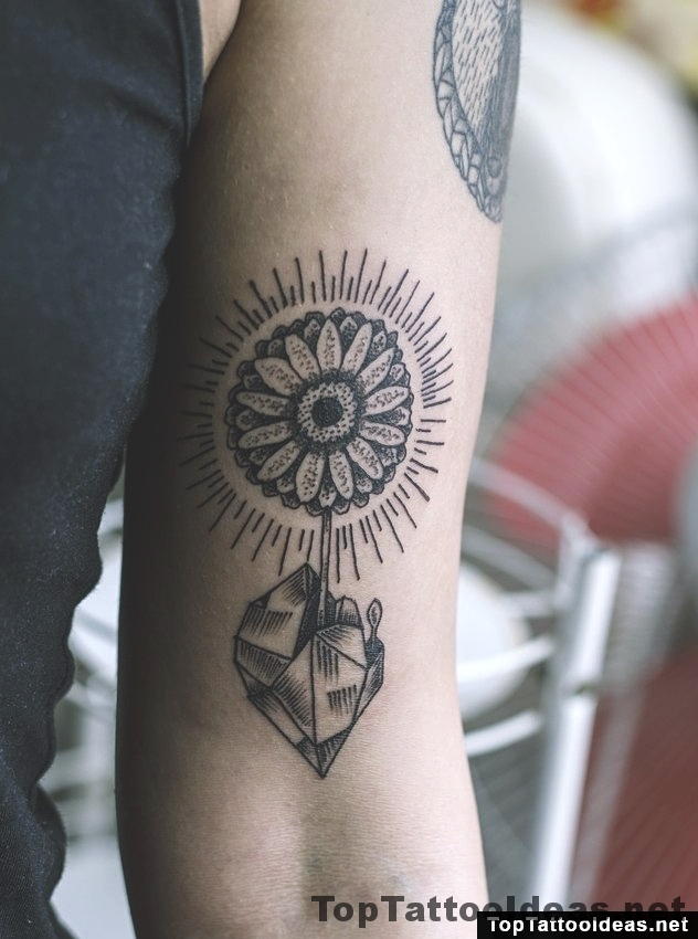 Gerbera Upper Arm Tattoo