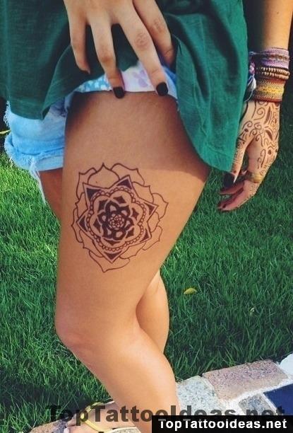 Mandala Leg Tat