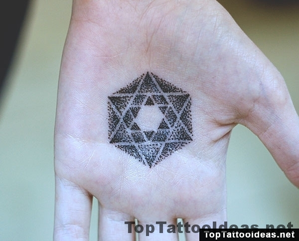 Metatron's Cube Palm Tattoo