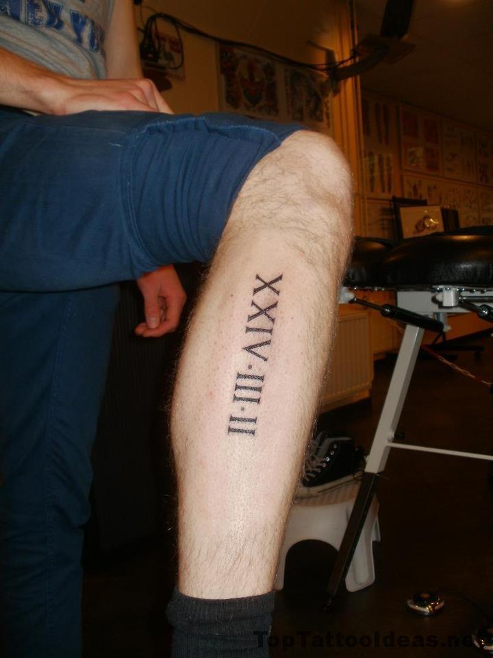 Roman Numerals Date Tattoo