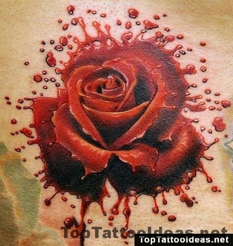 rose splatter