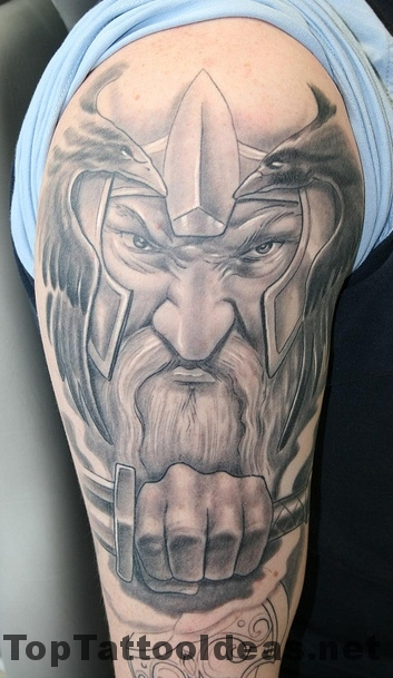 Viking Dwarf Warrior Tattoo