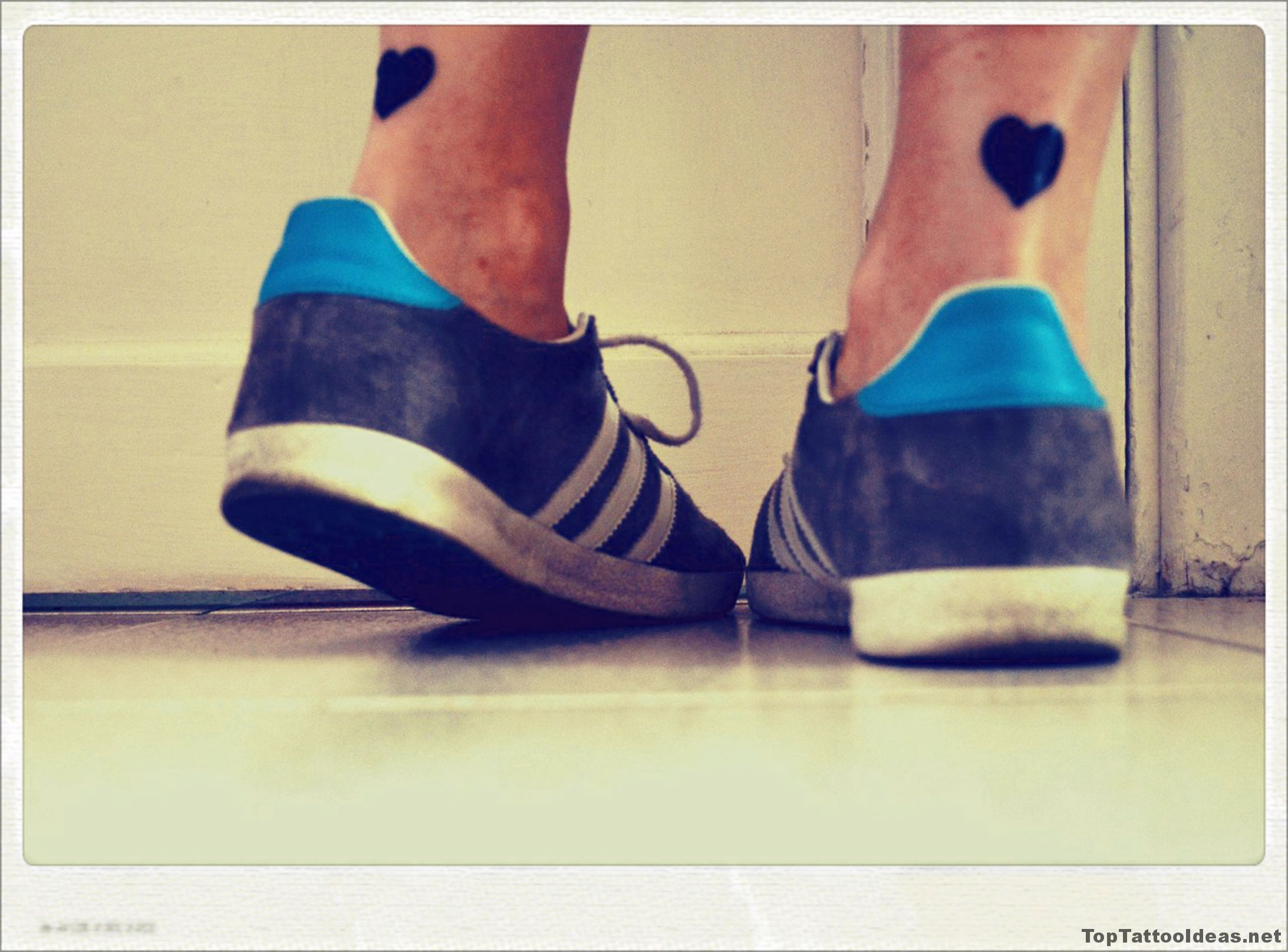 Cute Heart Leg Tattoos Tattoo Idea