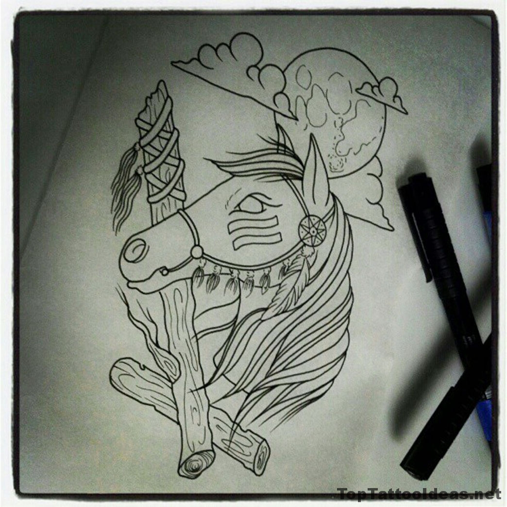 Great Sketch Tattoo Idea