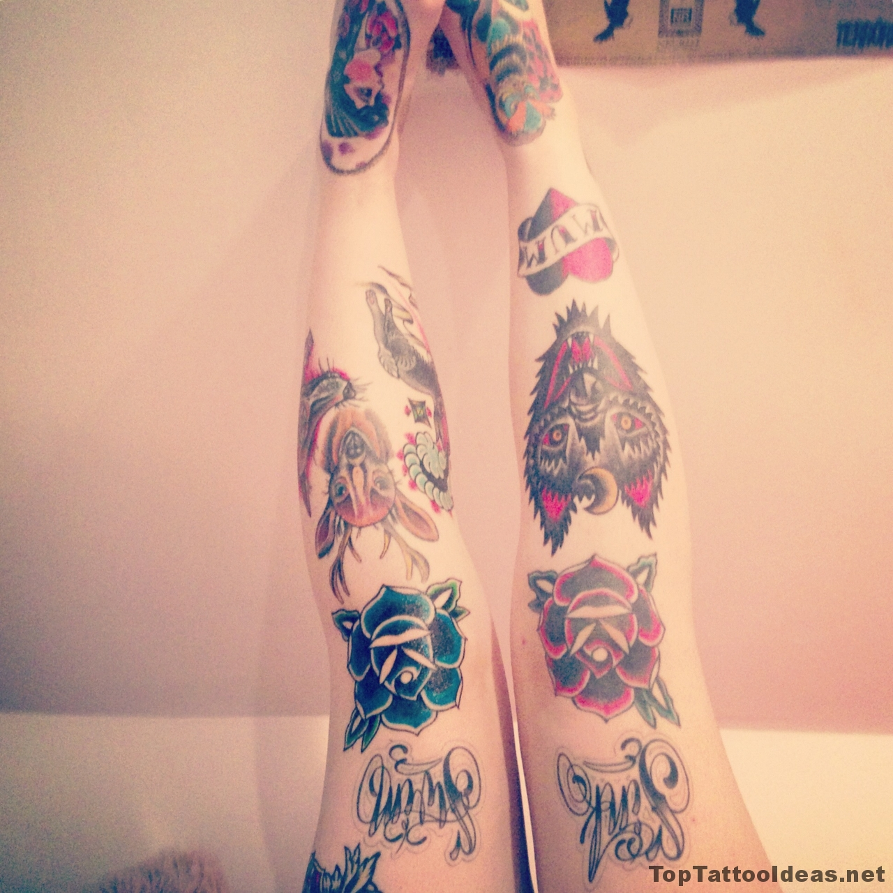 Nice Knee Tattoos Designs