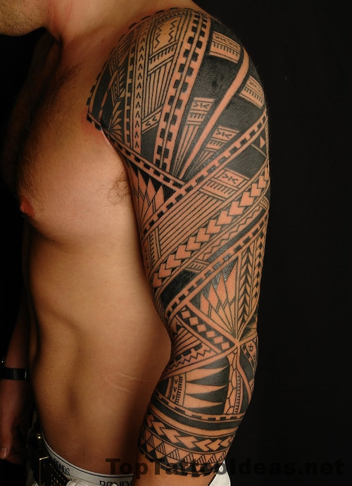 Nice Tribal Tattoos Sleeves For Men