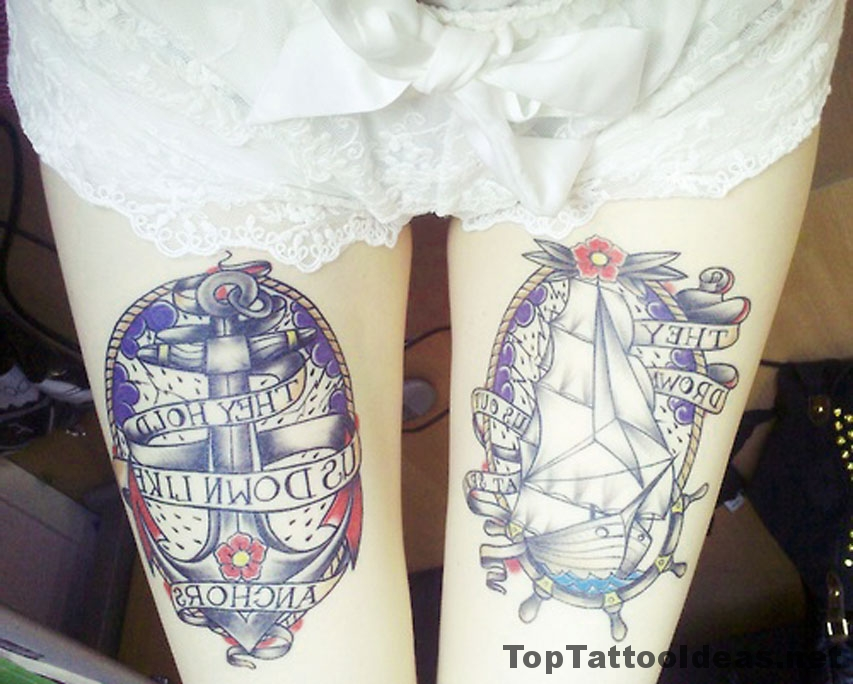 They Hold Us Down Like Anchors Tattoo Idea