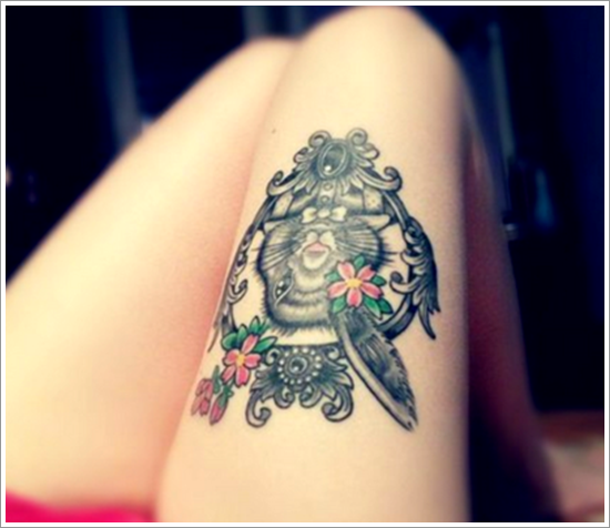 Wonderful Tattoo Ideas For Women On Thigh