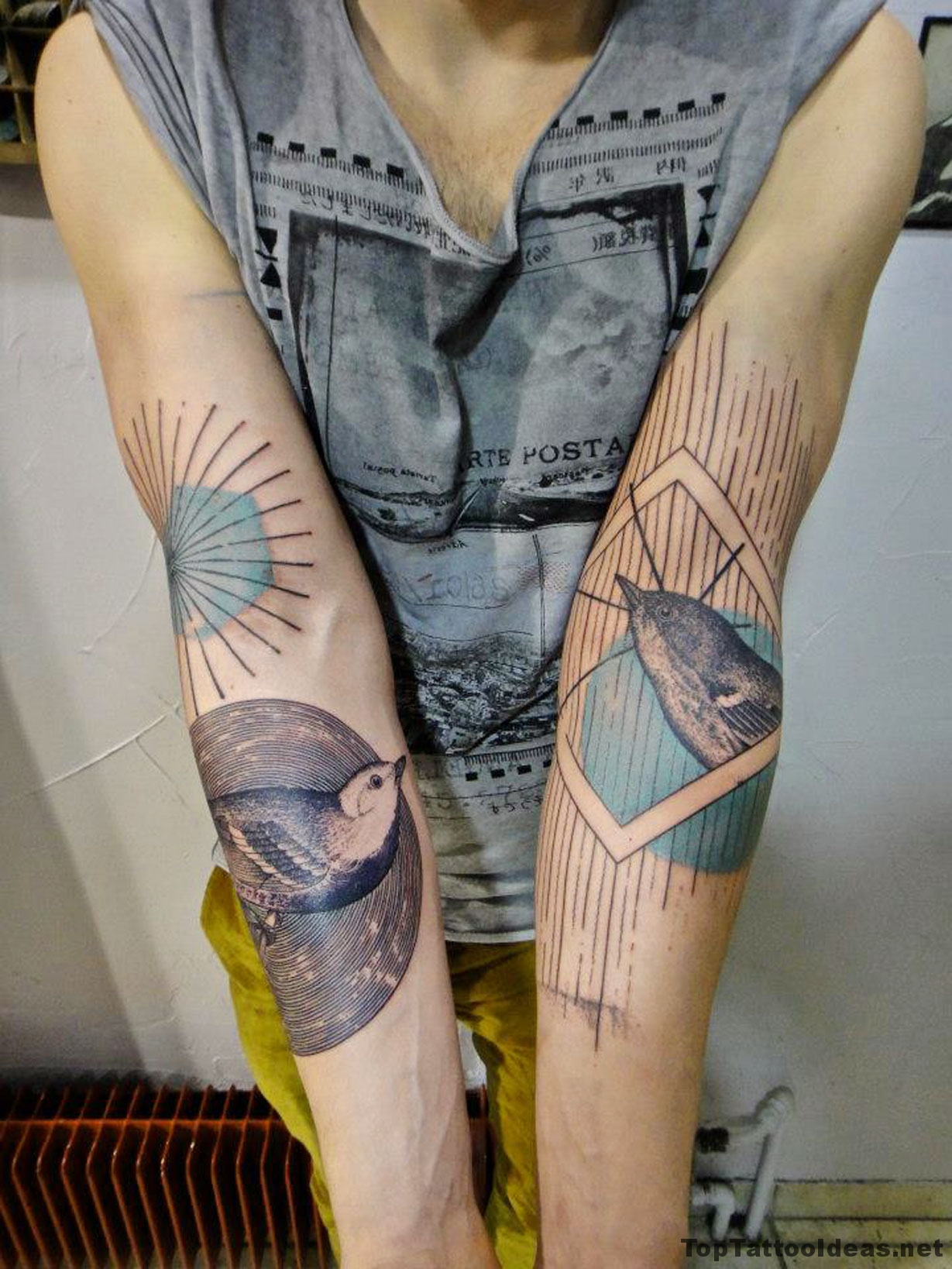 Awesome Birds Tattoo Idea