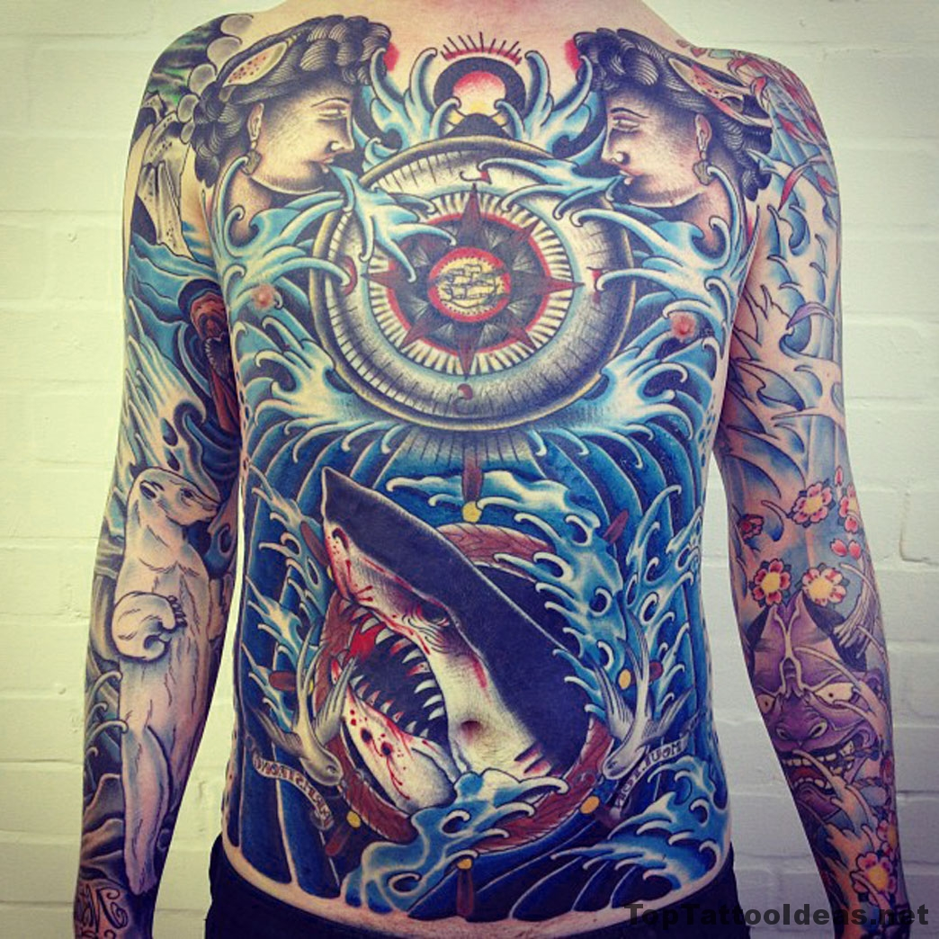 Awesome Fully Tattooed Sailor Tattoo Idea