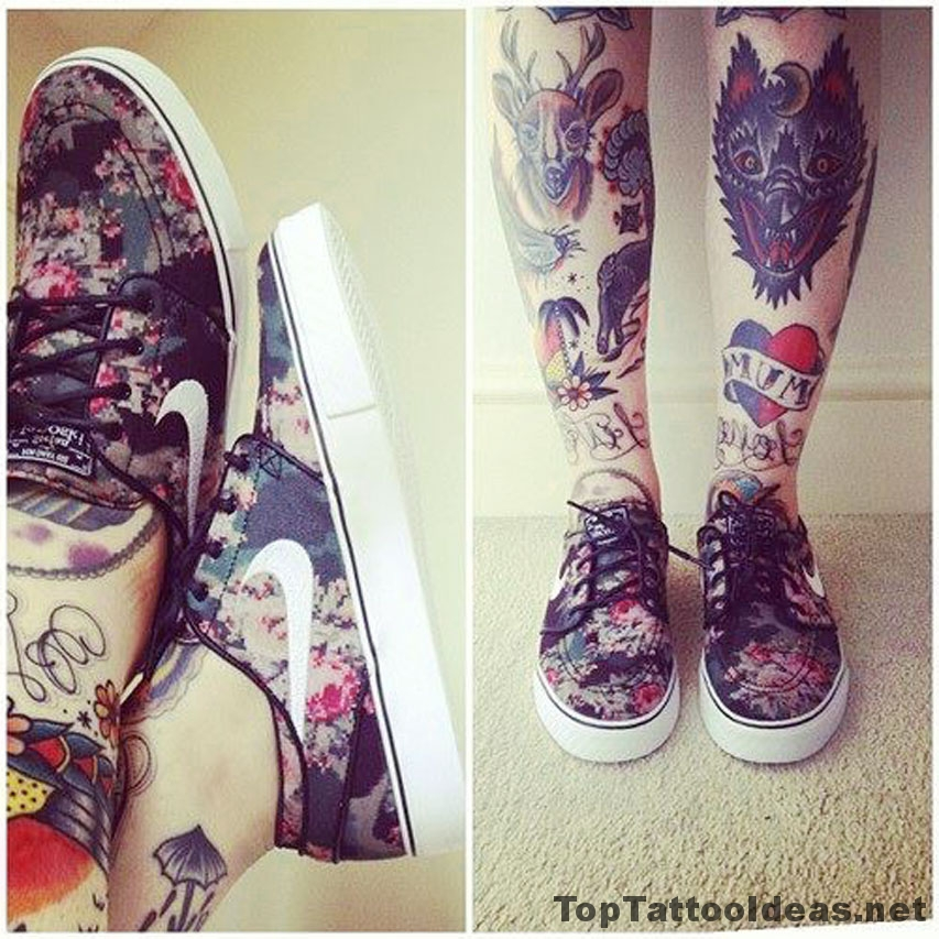 Awesome Leg Tattoos Tattoo Idea