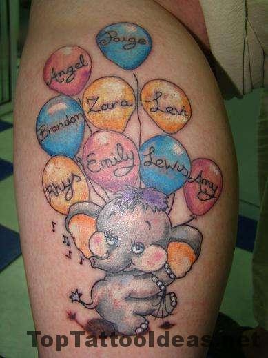 Beautiful Grandkids Tattoo Ideas