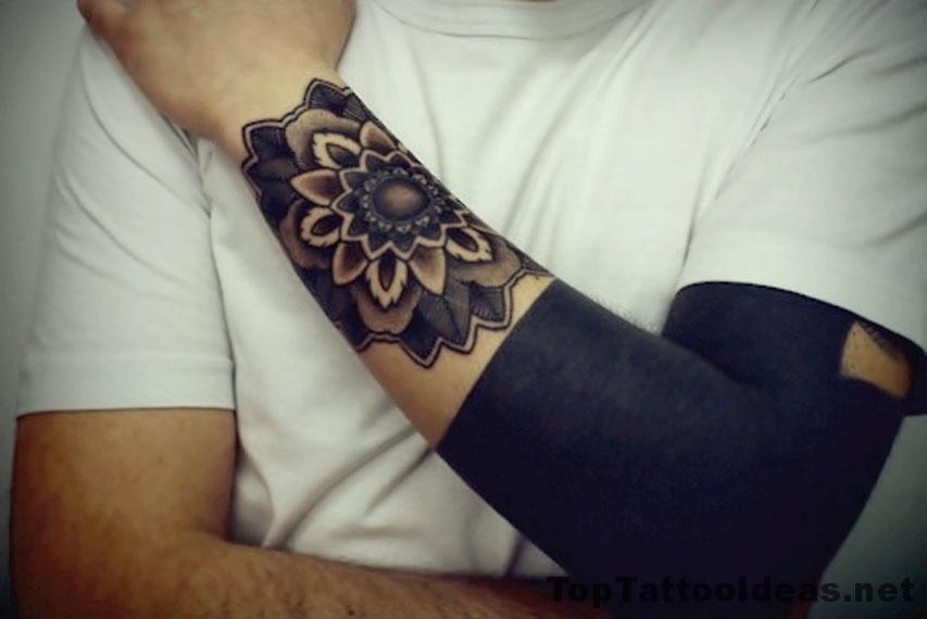 Black Arm Beautiful Tattoo Idea