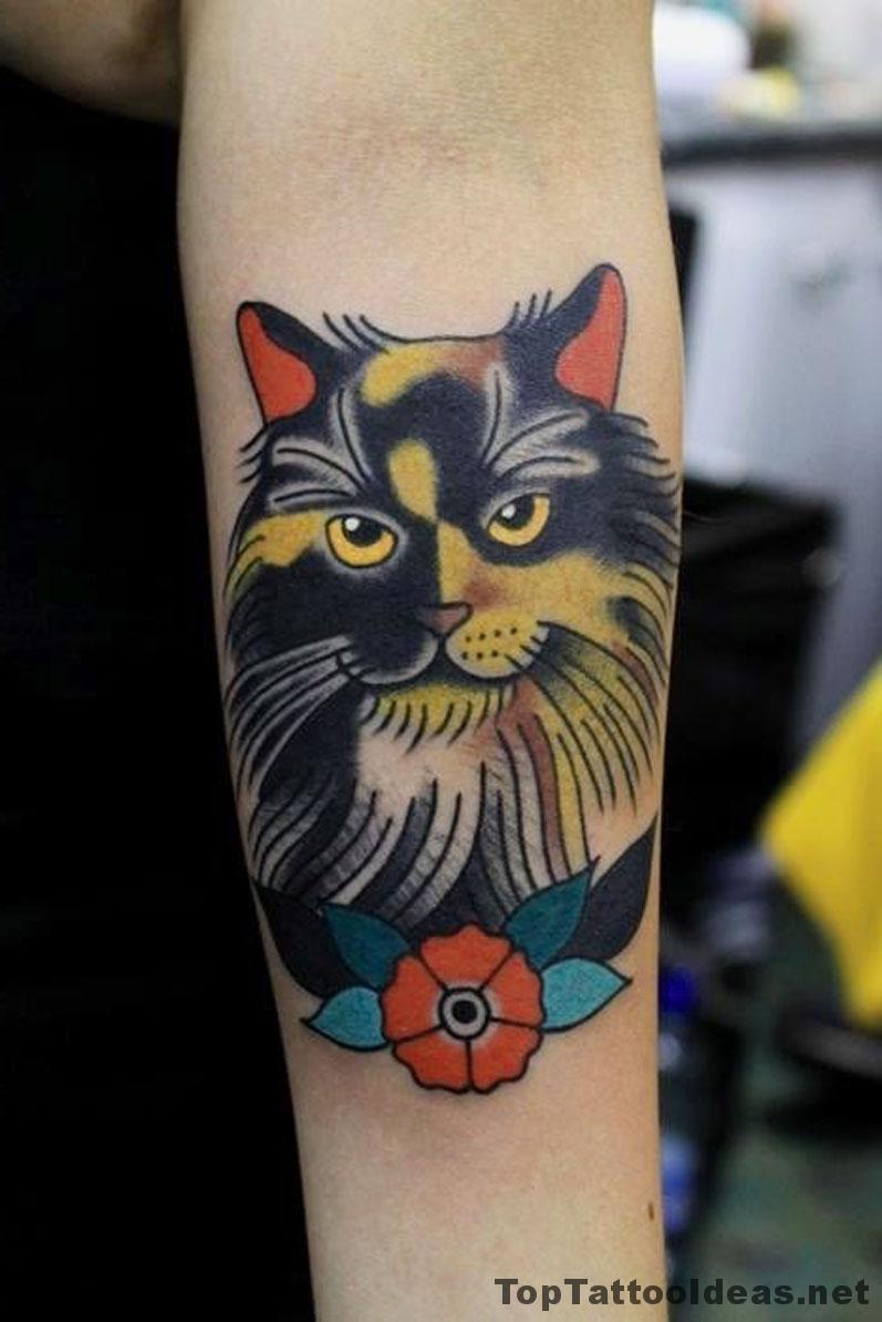 Classy Cat Tattoo Idea