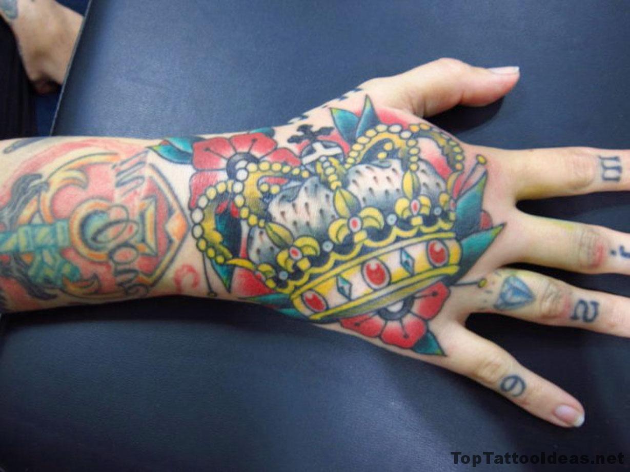 Crown Arm Tattoo Idea