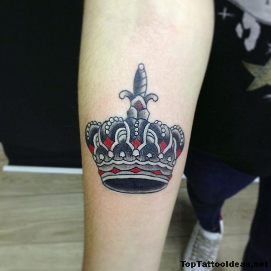 Crown Tat Tattoo Idea