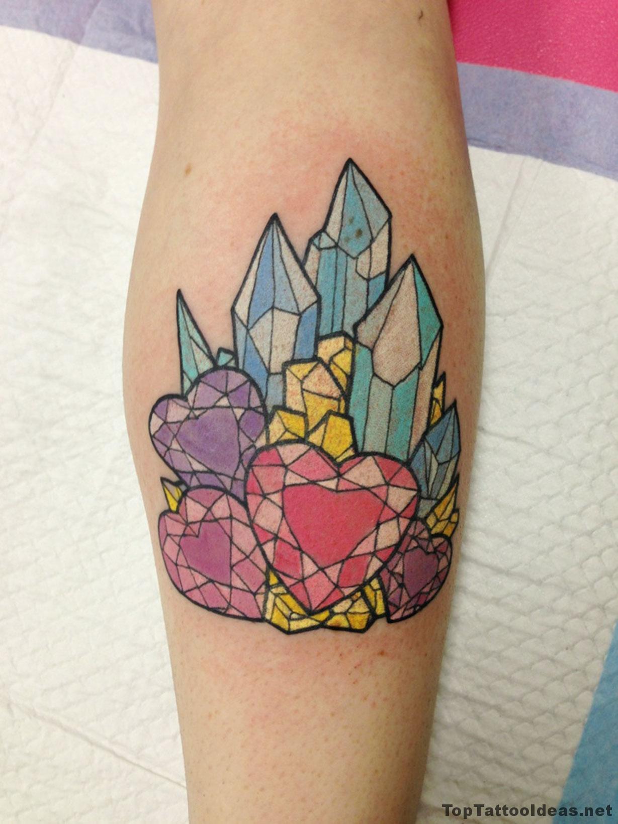 Crystals Tattoo Idea