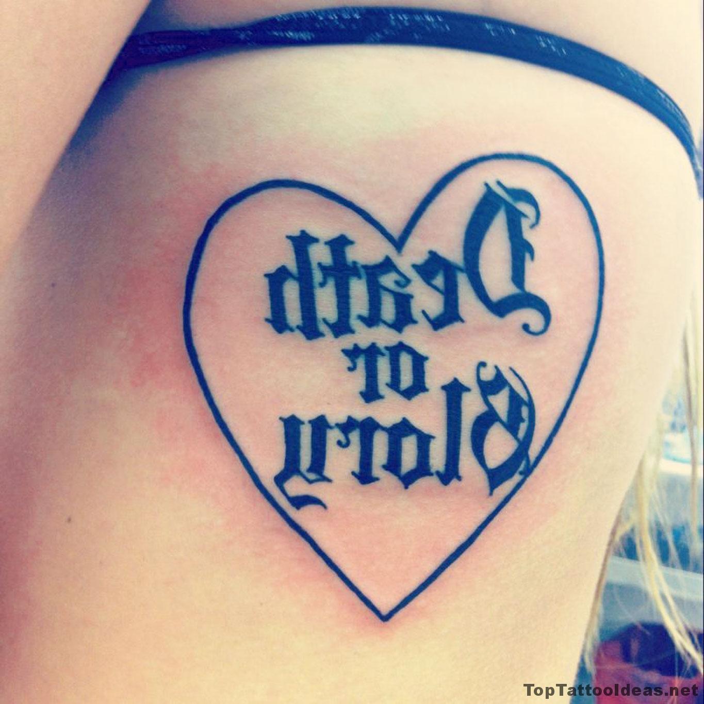 Death Or Glory Tattoo Idea