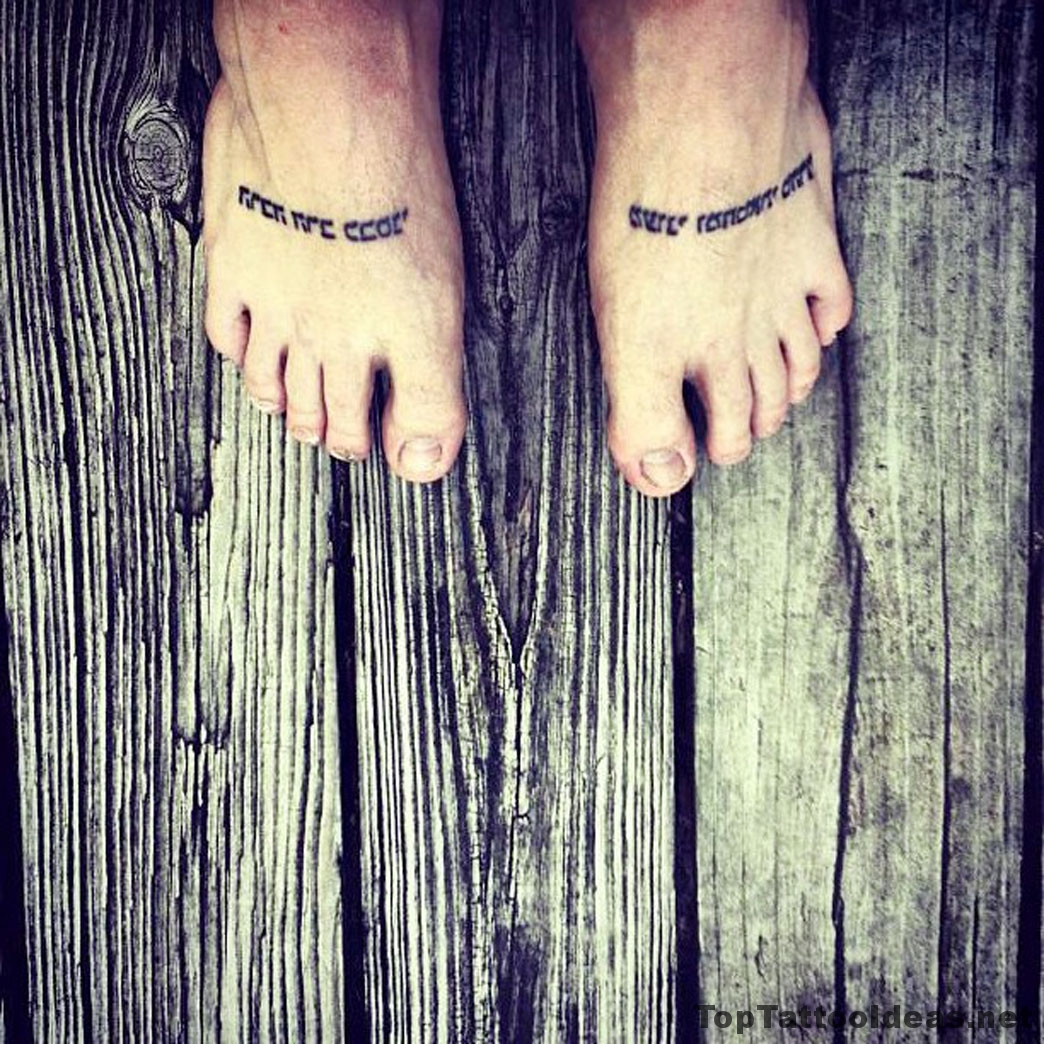 Feet Tats Tattoo Idea
