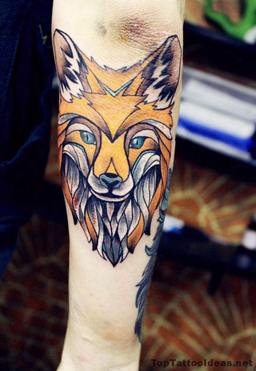Fox Elbow Tattoo Idea