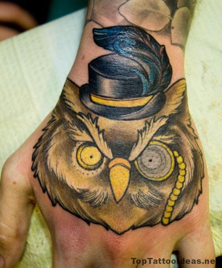 Funny Owl Tattoo Idea