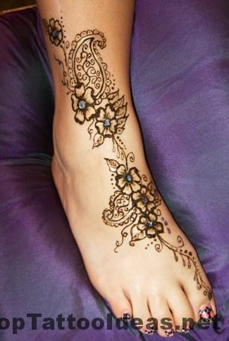 Henna Tattoos On Foot