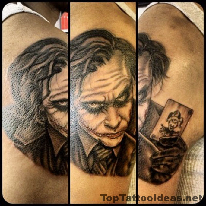 Joker Tattoo Idea