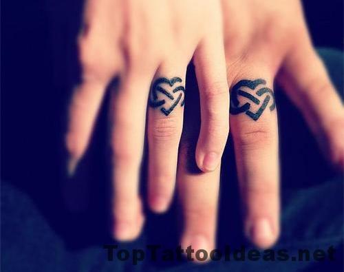 Lovely Wedding Ring Tattoos For Men Designs