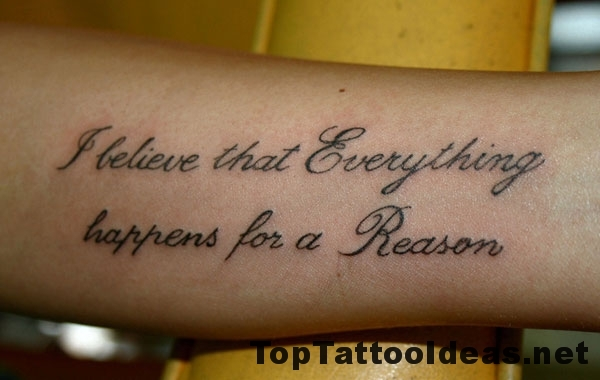 Quote Tattoos On Forearm Top Tattoo Ideas
