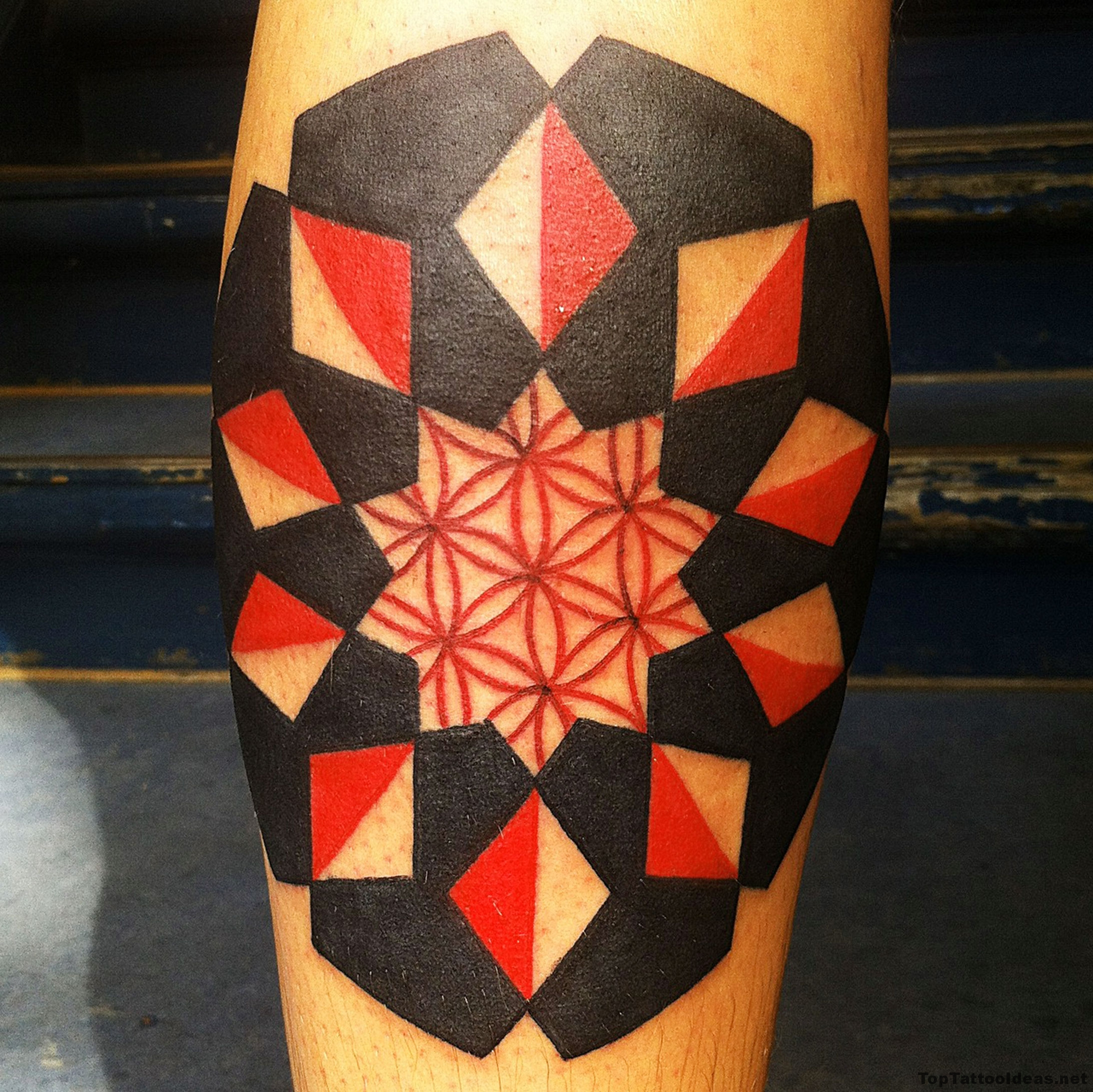 Red And Black Tattoo Idea