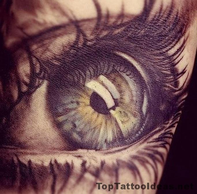 Absolutely Amazing Eye Tat Tattoo Idea