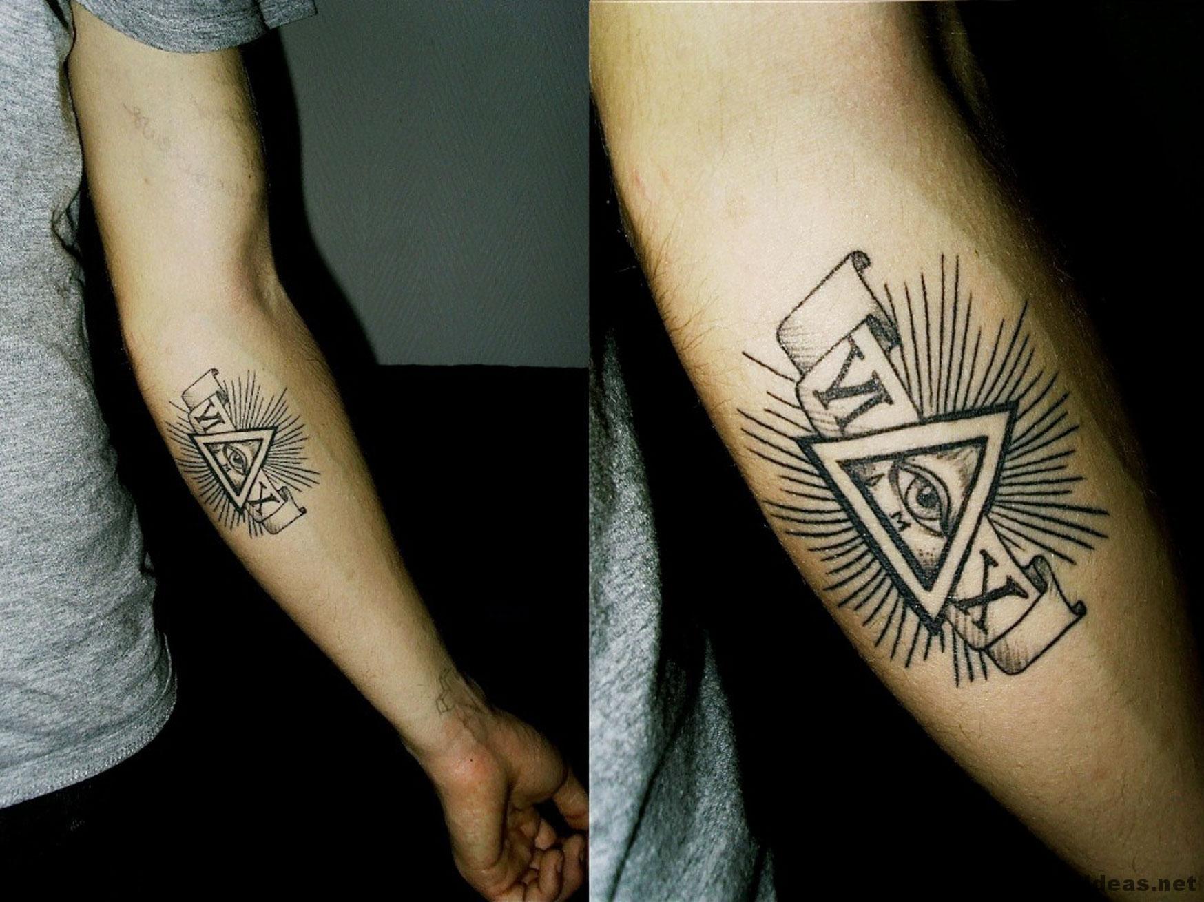 Another Illuminati Arm Tattoo Idea