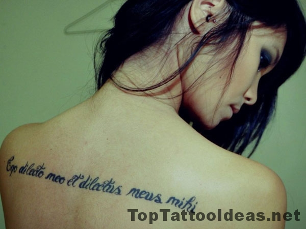 Back Quote Tattoos