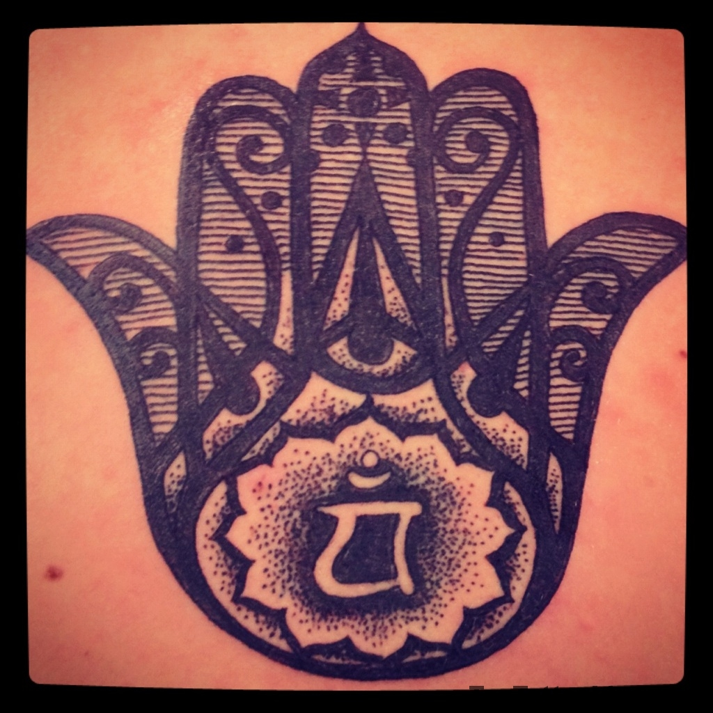Beautiful Hamsa Hand Tattoos