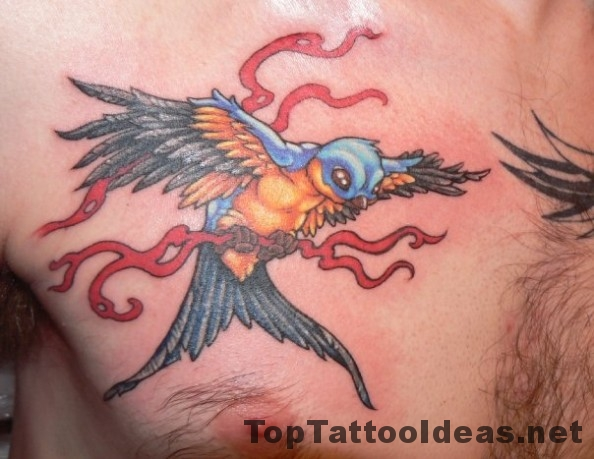 Beautiful Sparrow Tattoo Designs For Men