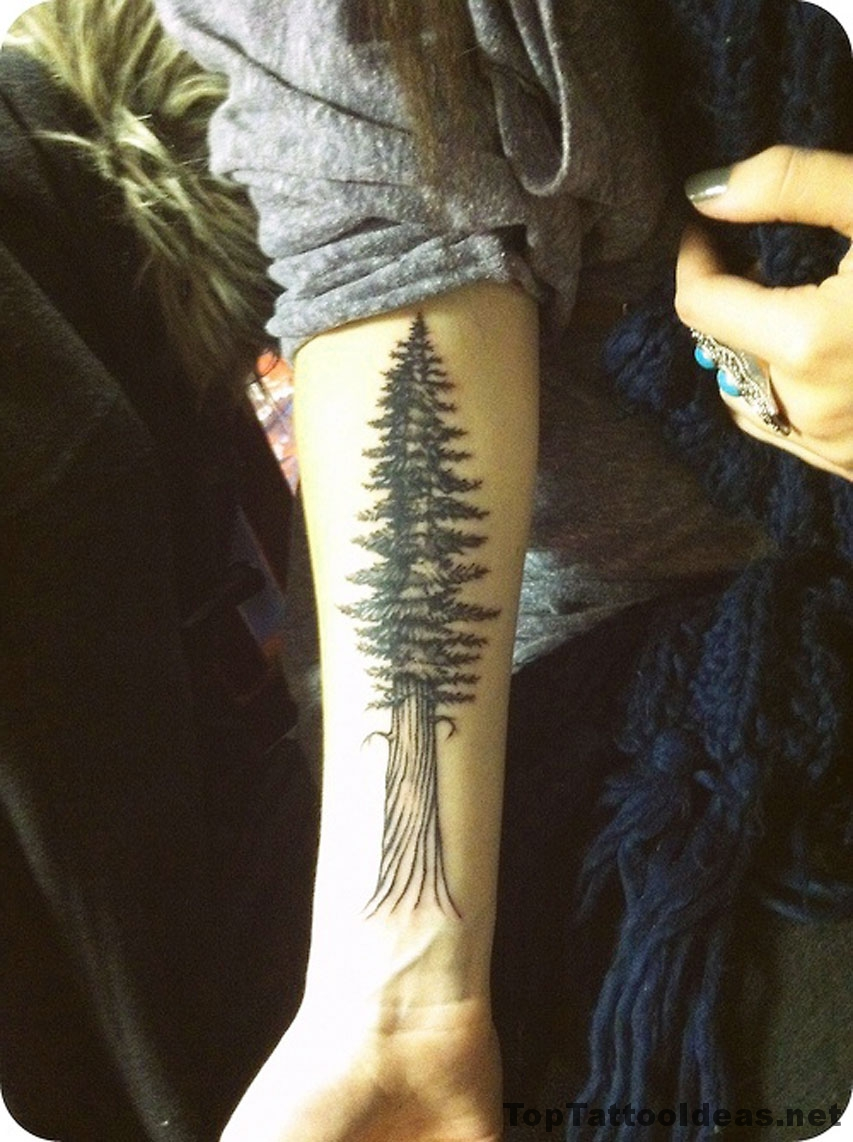Black Tree Ink Tattoo Idea