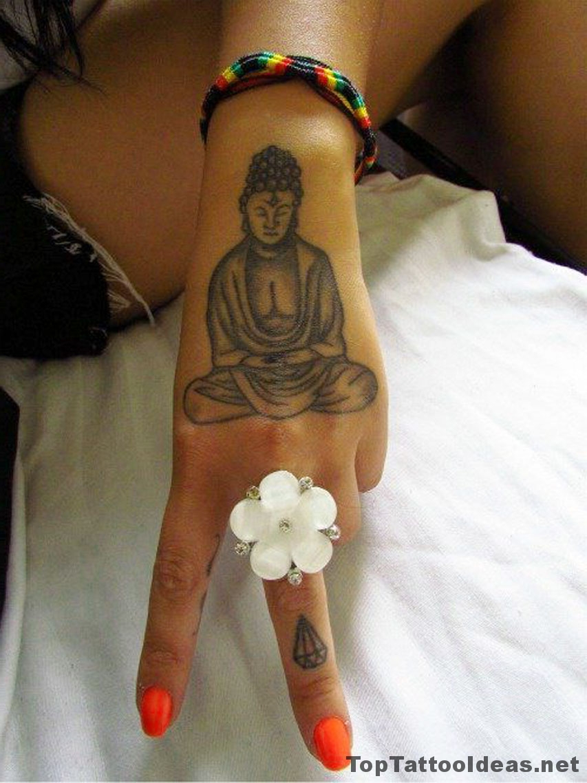 Buddha Hand Tattoo Idea