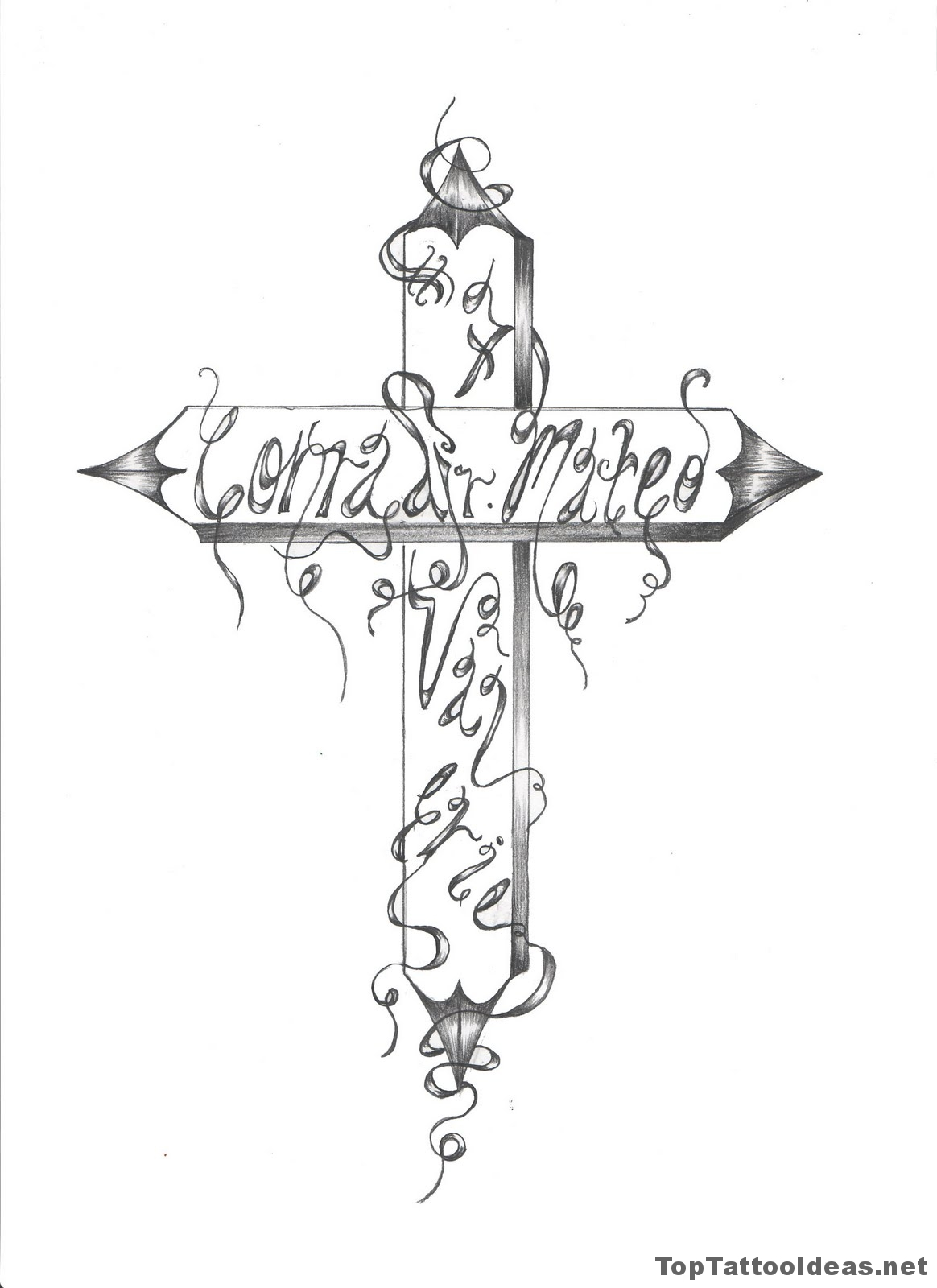 Custom Cross Tattoo Designs