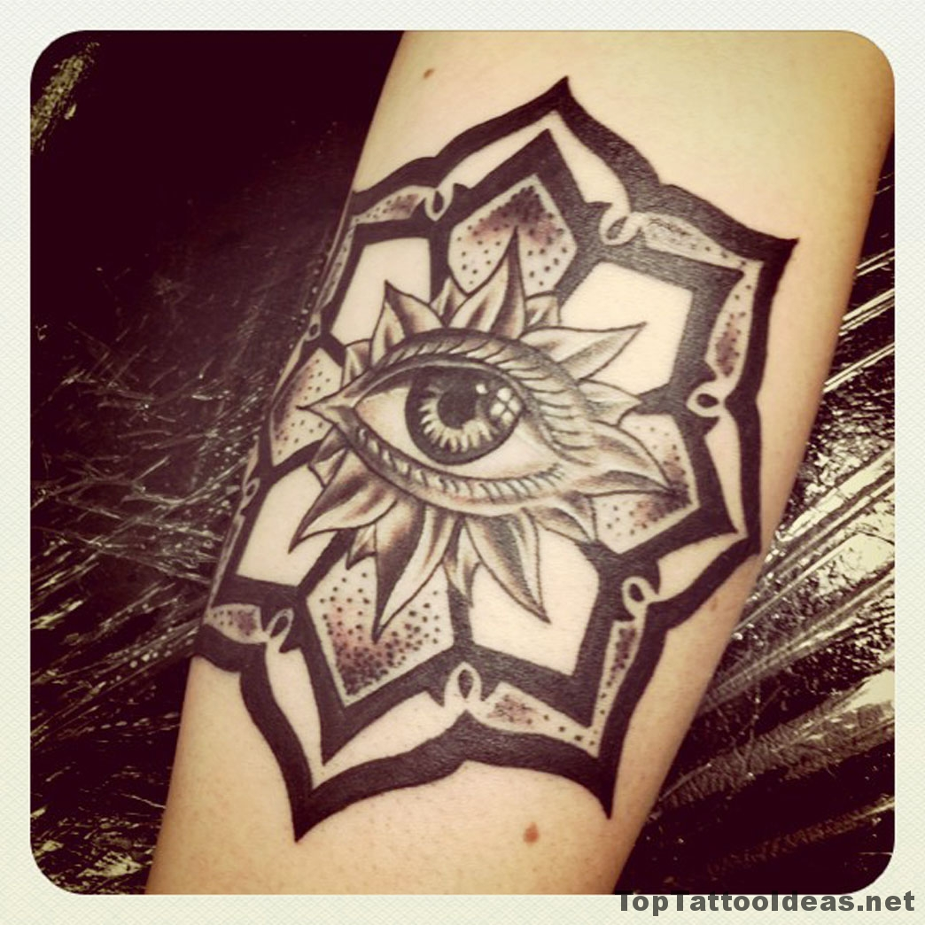 Eye In Flower Tattoo Idea
