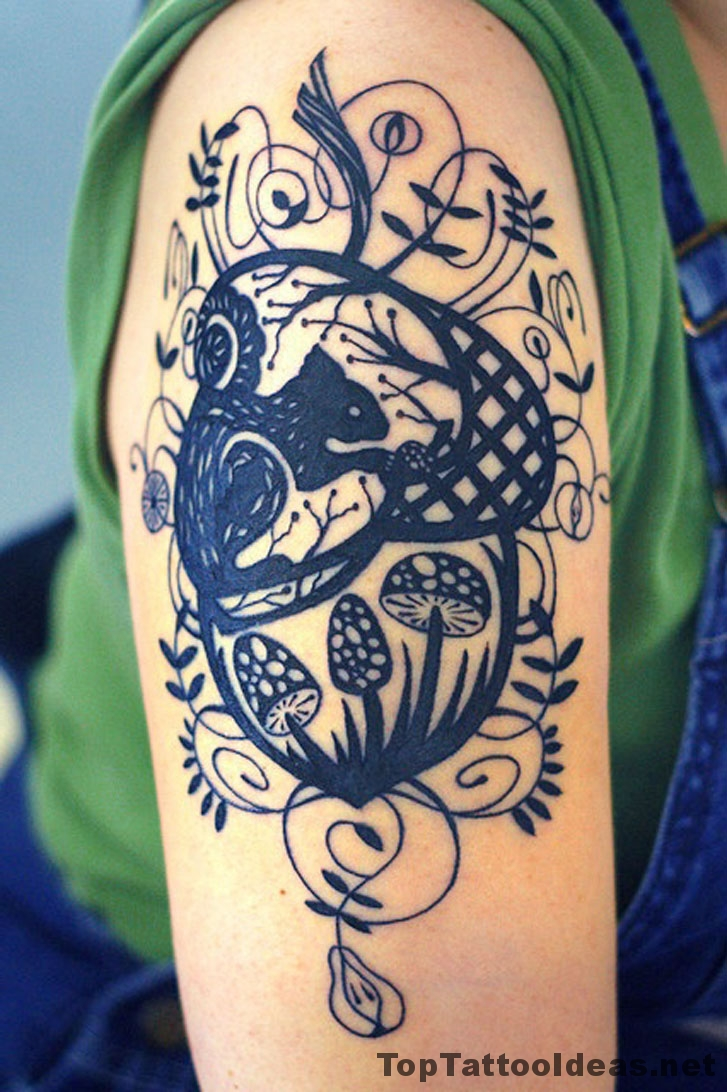 Forest Motif Tattoo Idea