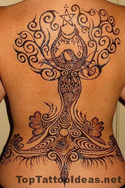 Henna Tattoos On Back