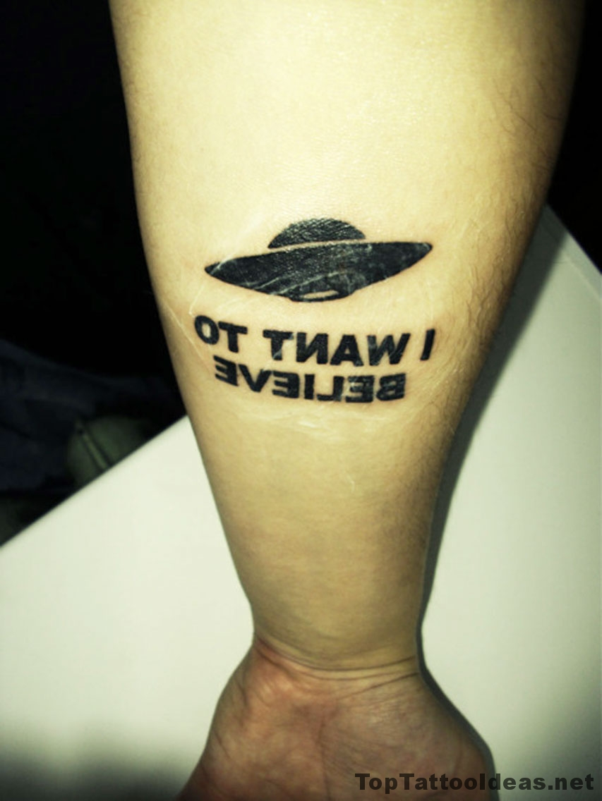 I Want To Believe Tattoo Idea