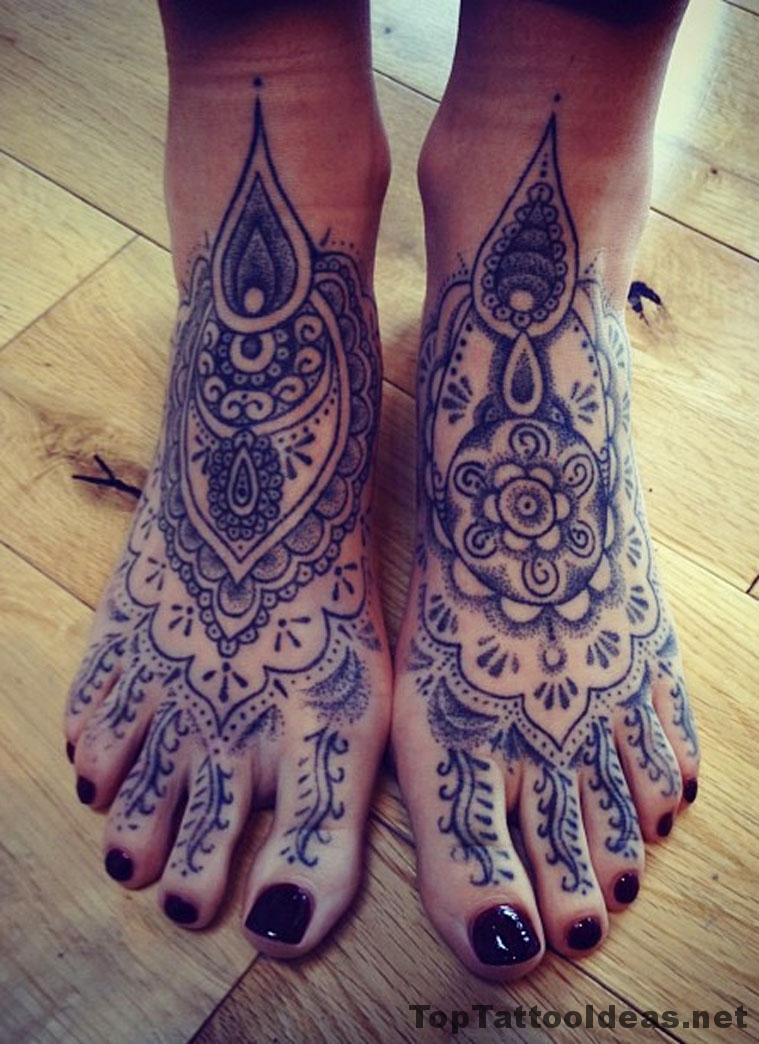 Lovely Feet Tattoo Idea