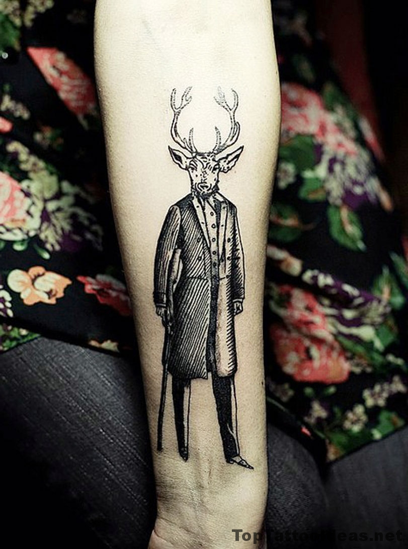 Mr Deer Tattoo Idea