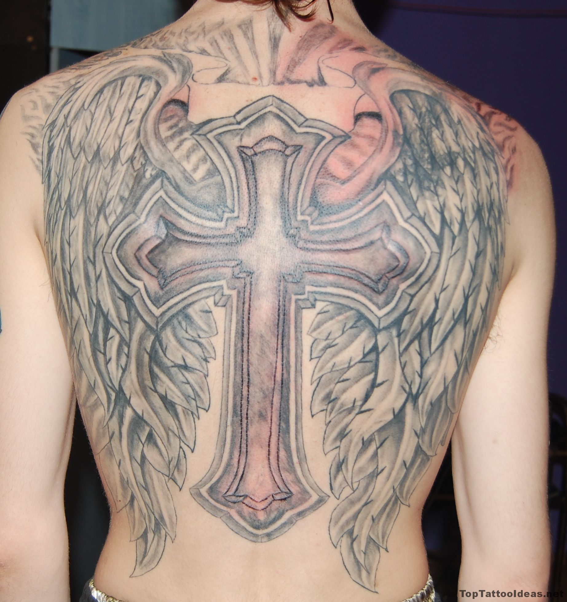 Nice Cross Tattoos For Men With Names