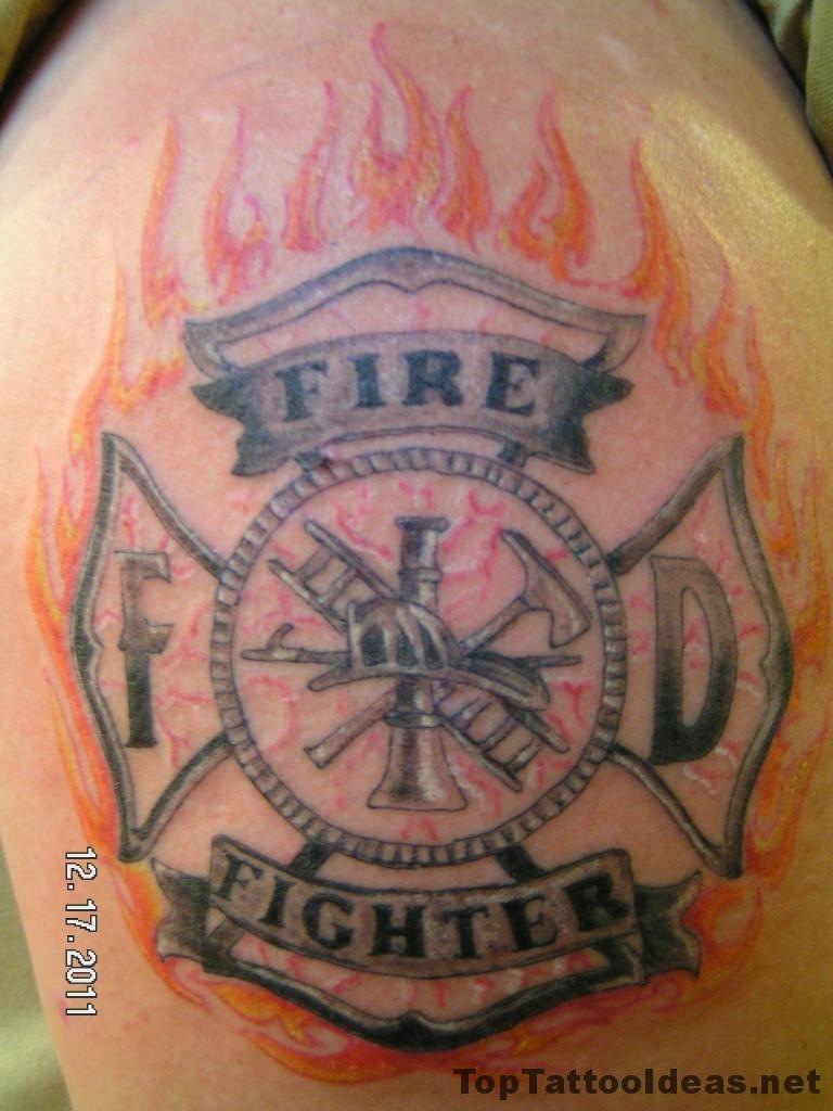Nice Firefighter Tattoos Ideas Top Tattoo Ideas