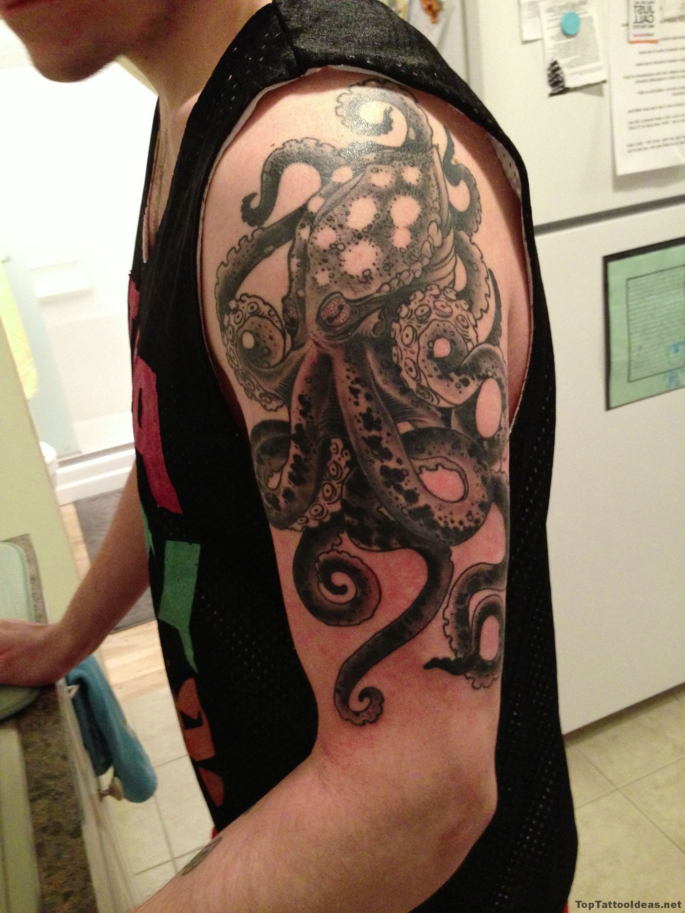 Octopus Sleeve Tattoo Idea