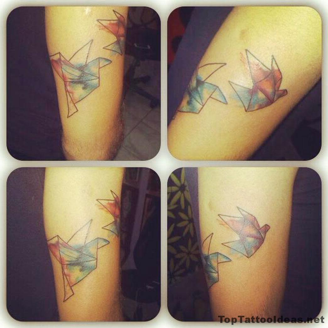 Origami Birds Tattoo Idea